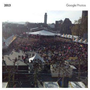 Mensenmassa op de Vrijthof in Maastricht